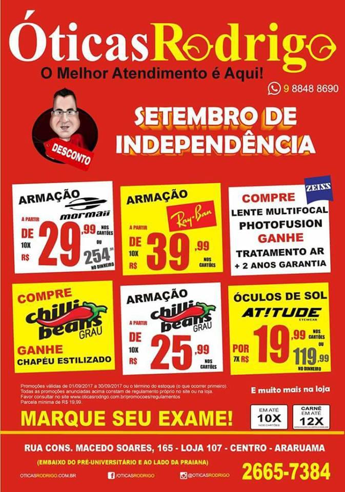 c33ec65f85deb ÓTICAS RODRIGO – Promoção Setembro de Independência