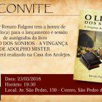 Escritor Renato Fulgoni lança seu primeiro livro na Casa dos Azulejos
