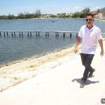 SÃO PEDRO DA ALDEIA – Prefeito Cláudio Chumbinho visita obras das Orlas da Praia da Tereza e do Centro