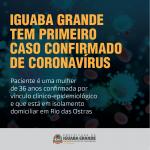 Iguaba Grande confirma 1º caso de coronavírus