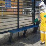 Pontos de ônibus passam por desinfecção nesta quarta em Cabo Frio