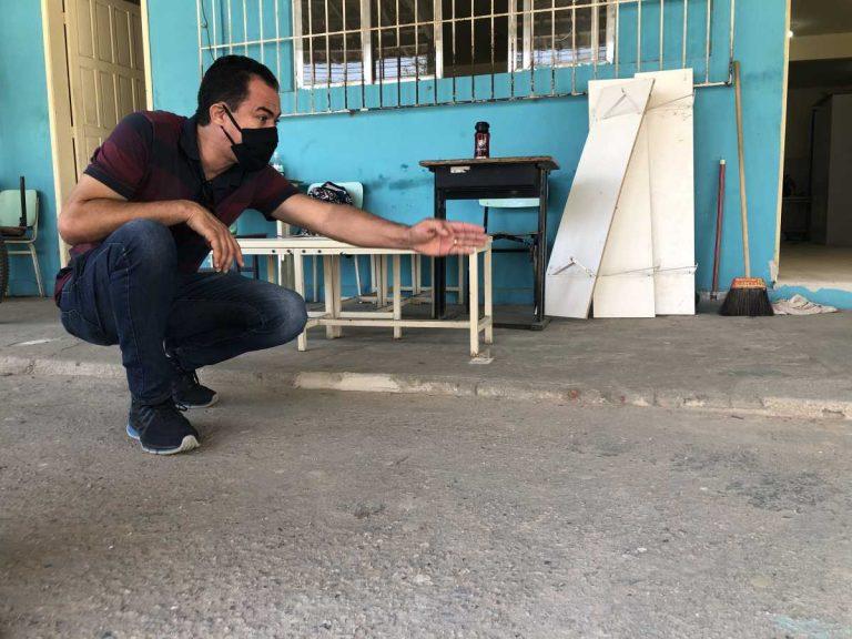 Escola do Campo Redondo recebe reparos durante a quarentena