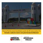 ALTERAÇÃO NO TRÂNSITO, NESTA QUINTA-FEIRA (15), EM ARRAIAL DO CABO